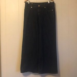 Michael Kors low rise wide leg jeans